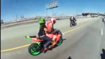 crazy guys ridding motobikes with no fear of crash!