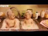 Deux bébés Prennent  un bain dans l'évier pourrait être amusant#Zakch gags