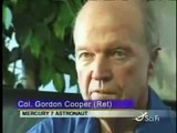 Apollo astronaut Gordon Cooper witnessing the landing of UFO and Aliens