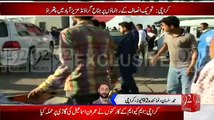 Clash Between MQM And PTI Workers In Azizabad Karachi MQM Workers Broke Imran Ismail Vehicle Glasses
