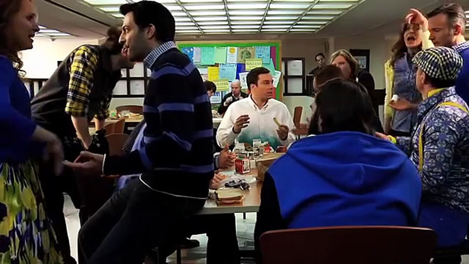 Jimmy Fallon vs Parks and Rec Cast - We're Not Gonna Take it (6-Bee)