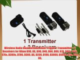 Wireless Radio Dual Hotshoe Flash Trigger 1 Transmitter   2 Receivers for Nikon D90 DX D90