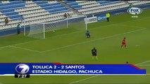 Santos 2 (3 penales)- Toluca 2 (2 penales)