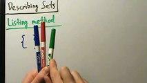 Intermediate Algebra - Listing Method of Describing Sets