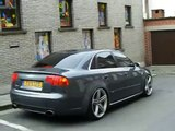Lowered RS4, great sounding Audi RS4 in Ghent