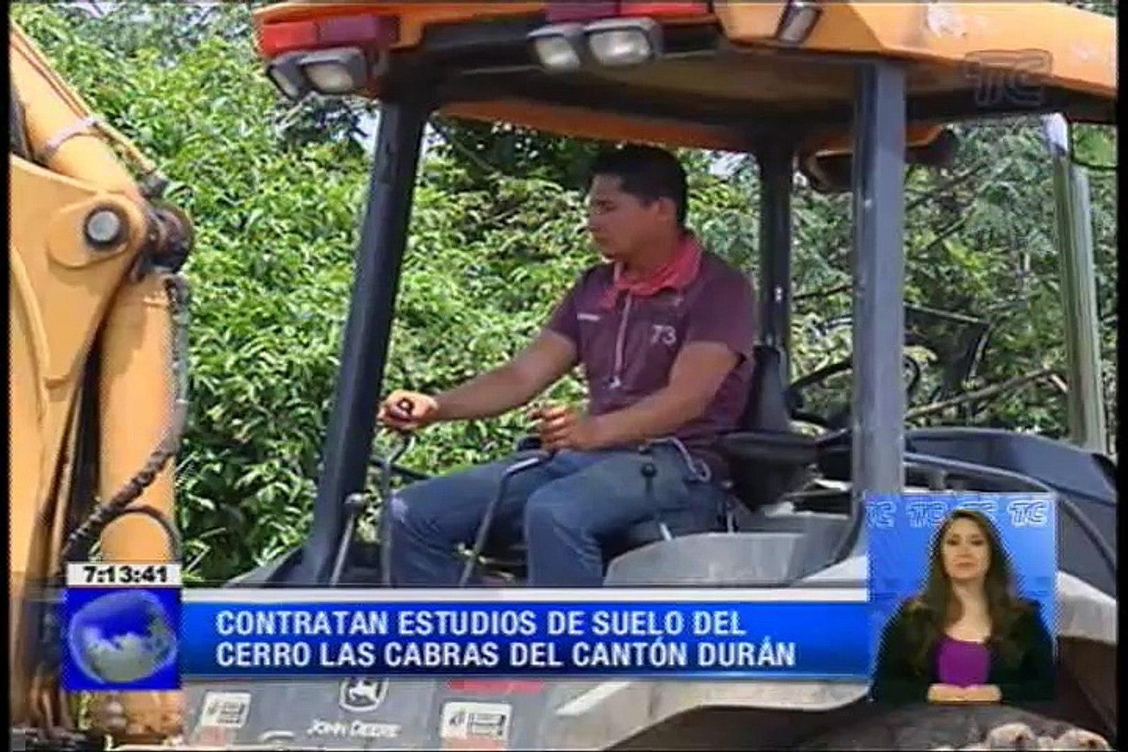 Contratan estudios de suelo del cerro Las Cabras del cantón Durán