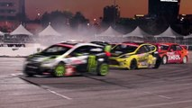 [HOONIGAN] Race Car on Fire Ken Block #AINTCARE, Presses on During Rally-X Race. (HD)