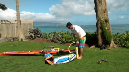La première planche windsurf freeride gonflable, full planing !
