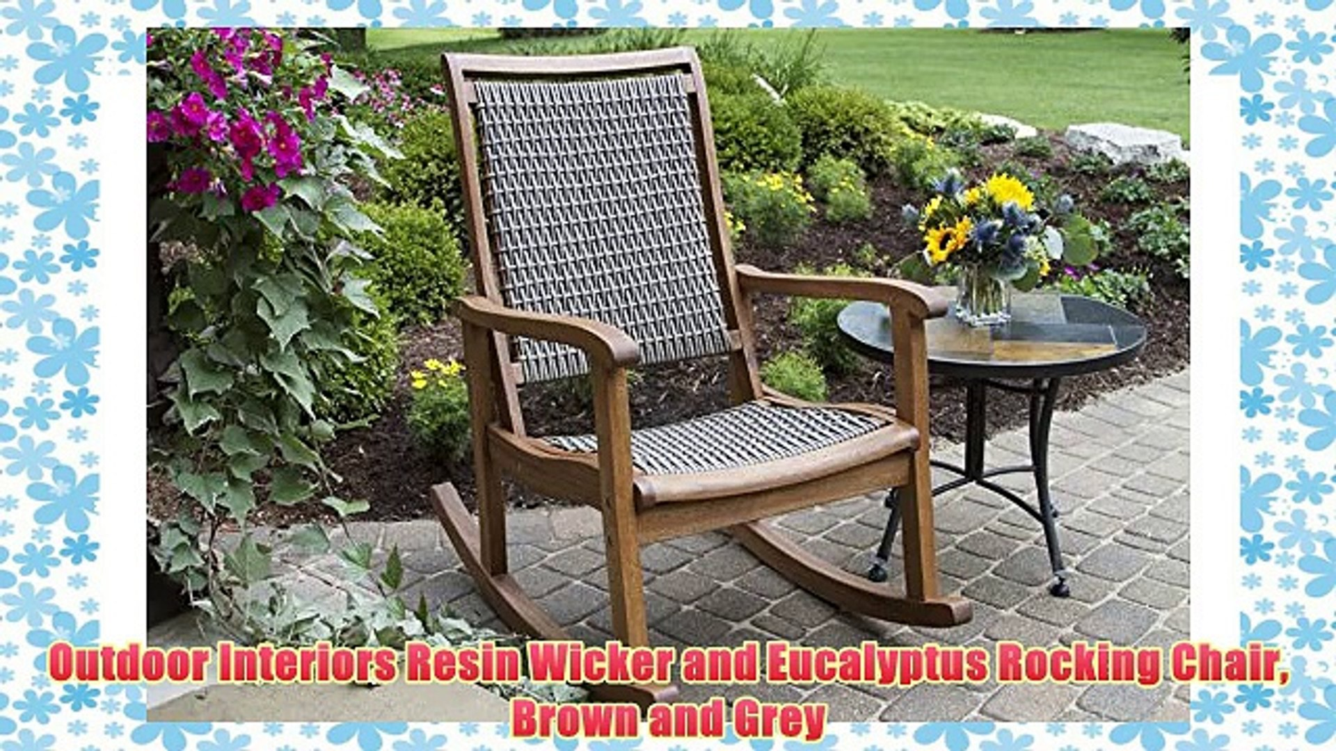 Groovy Outdoor Interiors Resin Wicker And Eucalyptus Rocking Chair Brown And Grey Cjindustries Chair Design For Home Cjindustriesco