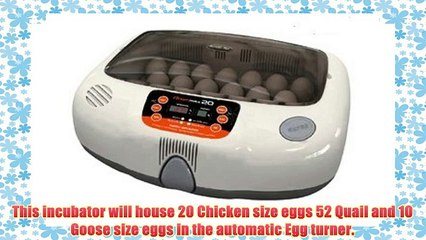 R-Com RCOM Max 20 MX20 Fully AUTOMATIC Digital Egg INCUBATOR Brand NEW WARRANTY Your Local