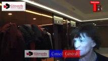 Télévision-Bordeaux-33  interview de Michèle Delaunay au conseil général alors du résultats sur les départementales.