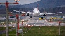 Atterrissages extrêmes et Crosswind à l'aéroport de Zurich (LSZH)