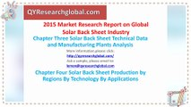 2015 Market Research Report on Global Solar Back Sheet Industry