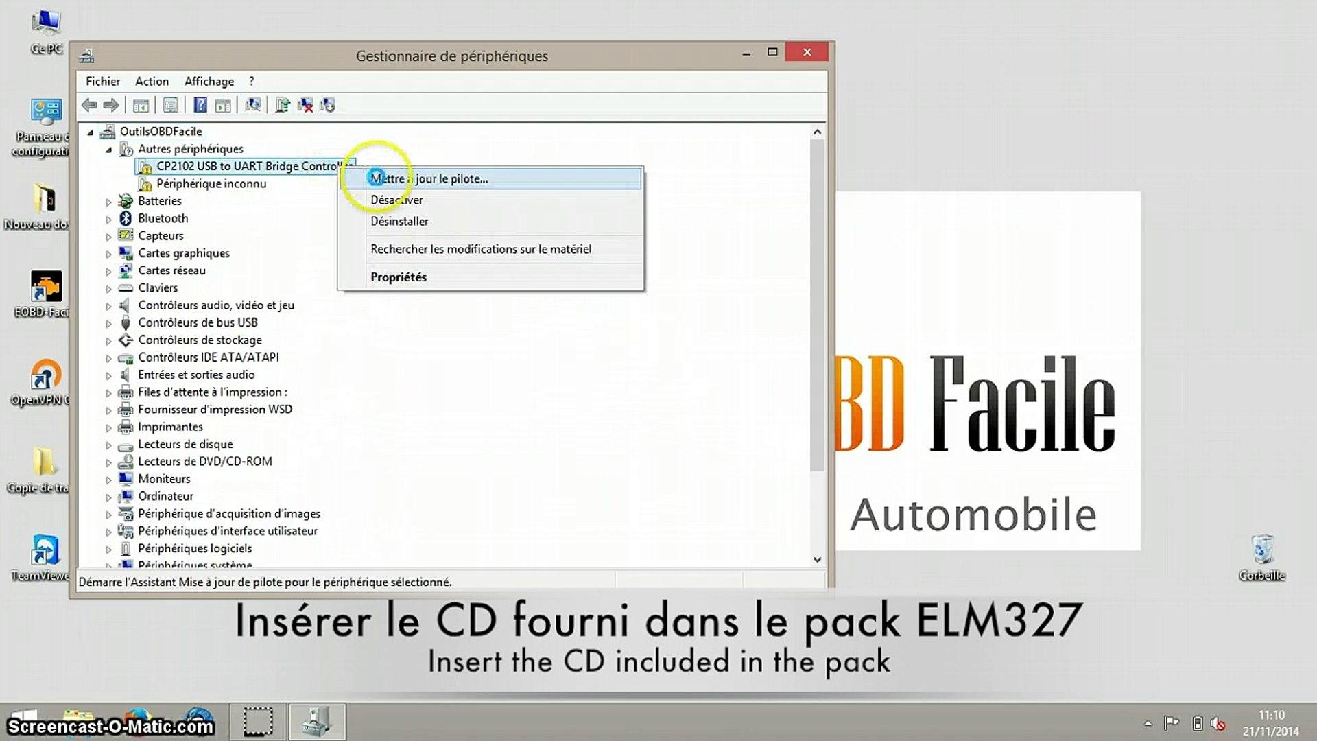 [TUTO] Comment installer les drivers USB de l'ELM327 sur Windows 8
