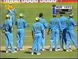 Funny cricket run out  India vs Australia 2001 Pune
