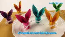 DIY Paper Crafts: Bunny Napkins Folding How to Tutorial Origami