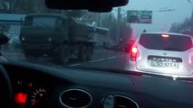 Large Russian Military Convoy With Ammunition Arrived To Donetsk Ukraine, Nov 1 2014