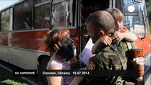 Donetsk residents continue to flee violence in rebel-held city to take refuge in Russia - no comment