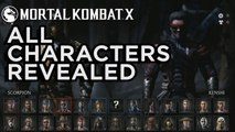 All Characters Revealed - Mortal Kombat X Official Roster