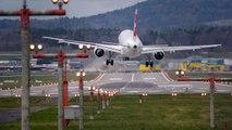 Terrifying plane landing in Zurich - LSZH Crosswind Landings