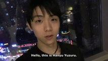 Hanyu Yuzuru Message - Canon Video (Eng Sub)