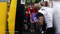 Floyd Mayweather Practices BIG body Shots In Training - Floyd Mayweather Jr vs Manny Pacquiao