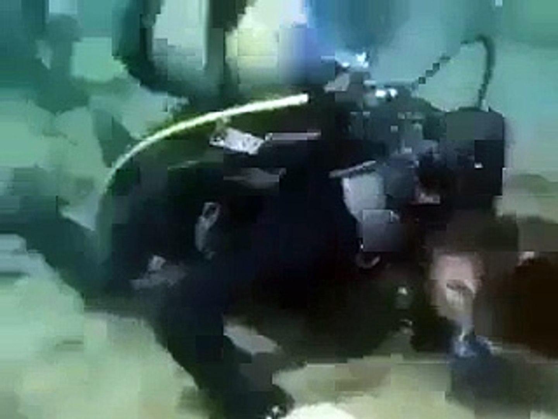 Scuba Diving Team Offering Prayer Under Water