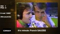 Rétro OM-PSG (1989): Sauzée donne le titre