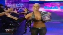 SMACKDOWN 9-12-2008 Nikki Bella & Maria & Michelle McCool vs Maryse & Victoria & Natalya