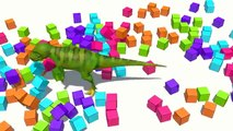 VIDS for KIDS in 3d (HD) - Kung Fu Dinosaur T-Rex Cartoon for Children, CUBES smashing Fun - AApV