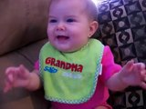 Cute Baby Girl Laughing - Londyn 6 months old Laughing hard! Funny video!-laughing babies-laughing baby girl