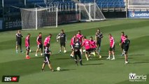 Sergio Ramos Dazzles With His Juggling and Watermarks in Training