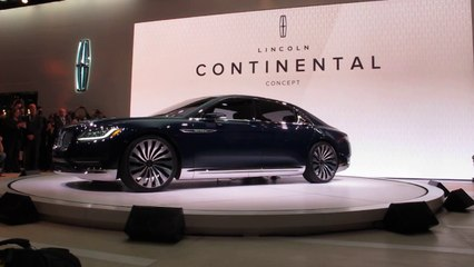 Lincoln Continental Concept Revealed at NYC 2015 Auto Show