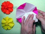 Origami flower折り紙花の折り方作り方 創作