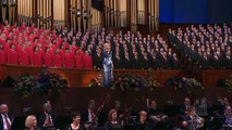 """Katherine Jenkins sings """"You'll Never Walk Alone"""" with the Mormon Tabernacle Choir"""