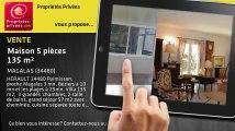 A vendre - maison - MAGALAS (34480) - 5 pièces - 135m²