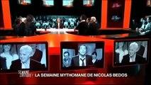 "Nicolas Bedos (face à) Guy Bedos, dans ""La Semaine Mythomane"", chez Franz Olivier Giesbert"