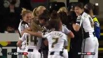 Incredible trick free-kick in Women's football match _ BT Sport