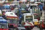Transportes y gases contaminantes en Bogotá