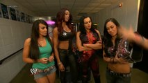 AJ Lee, Layla, Alicia Fox and Aksana Backstage Segment
