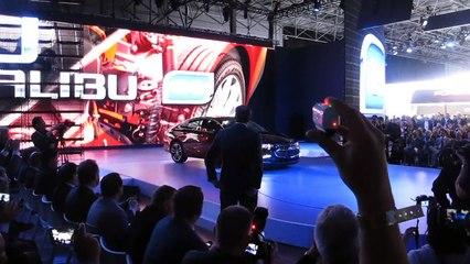 Mark Reuss Intros the 2016 Chevy Malibu Hybrid at the 2015 NYC Auto Show --  Bob Giles NewCarNews.TV