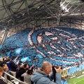 Tifo des supporters marseillais vu des tribunes (OM-PSG)