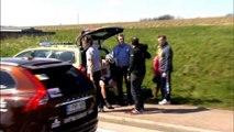 Ciclismo -  Dos terribles accidentes en el Tour de Flandes