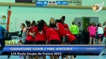 Gravelines  / Antony - quart de finale Coupe de France Handball 2015 - régionales filles