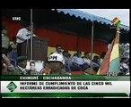 Evo Morales suspende actividades de la DEA en Bolivia - Informe erradicación de coca 1/3