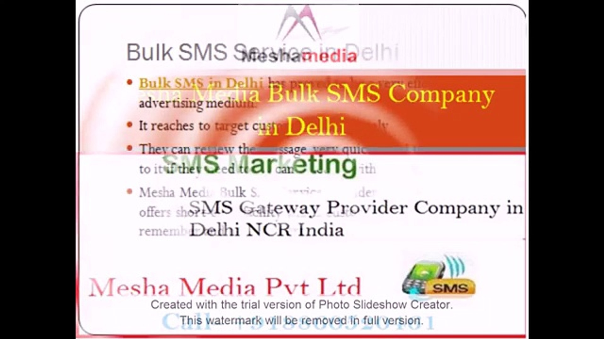 Mesha Media Bulk SMS Company in Delhi