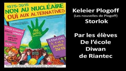 """40 ans-La main verte: """"Keleier Plogoff"""" par l'école Diwan de Riantec"""
