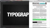 Effet typographique - Remplir un portrait ou une typo avec du texte - Tuto Photoshop