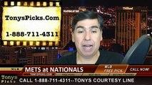 Washington Nationals vs. New York Mets Free Pick Prediction MLB Odds Preview 4-6-2015