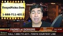 San Diego Padres versus LA Dodgers Free Pick Prediction MLB Odds Preview 4-6-2015